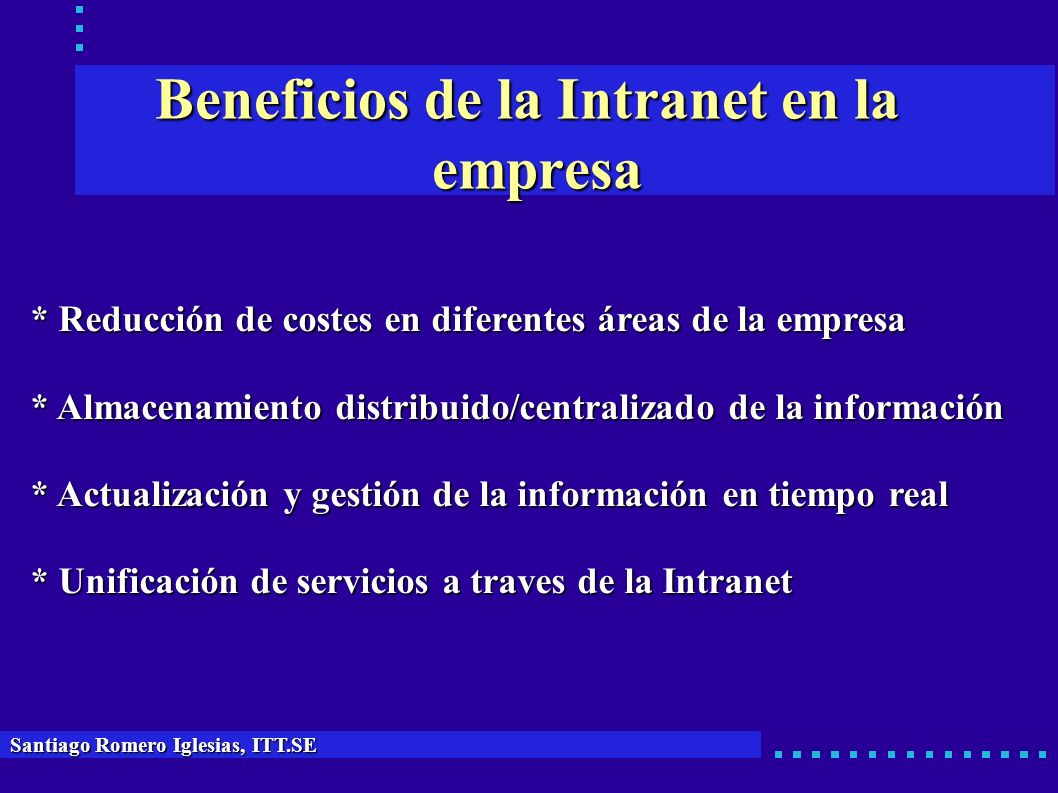 Beneficios de la Intranet en la empresa