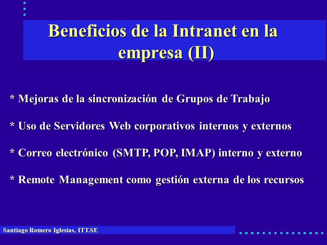 Beneficios de la Intranet en la empresa (II)