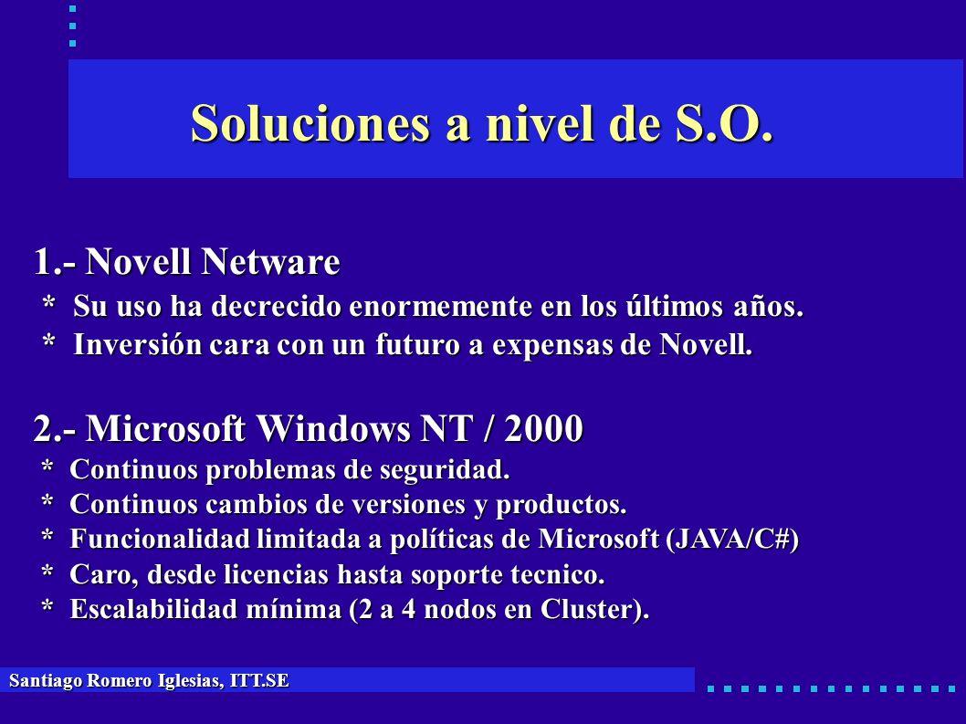 Soluciones a nivel de S.O.