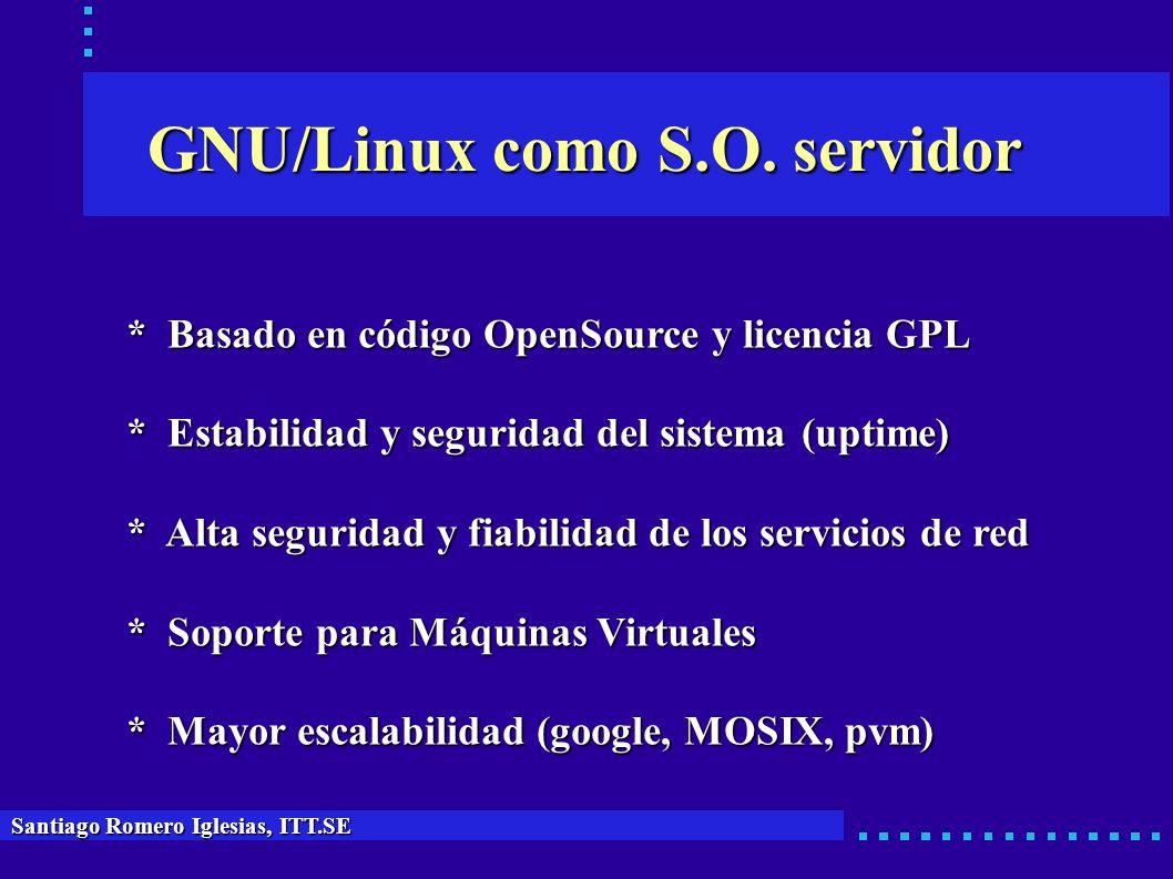 GNU/Linux como S.O. servidor
