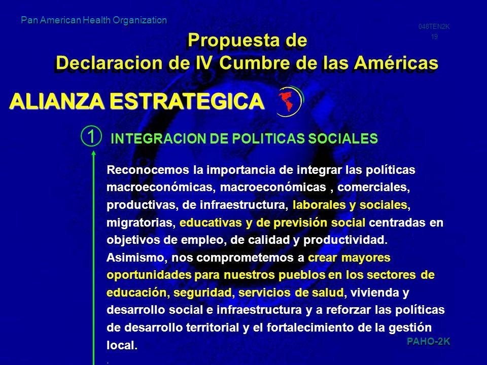 Propuesta de Declaracion de IV Cumbre de las Américas