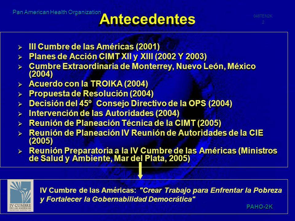 Antecedentes III Cumbre de las Américas (2001)