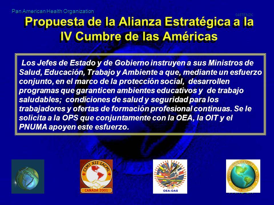 Propuesta de la Alianza Estratégica a la IV Cumbre de las Américas