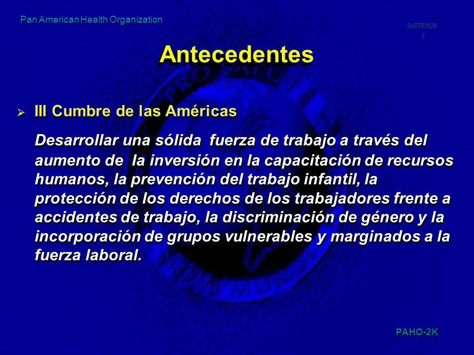 Antecedentes III Cumbre de las Américas.