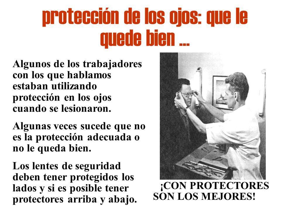protección de los ojos: que le quede bien ...