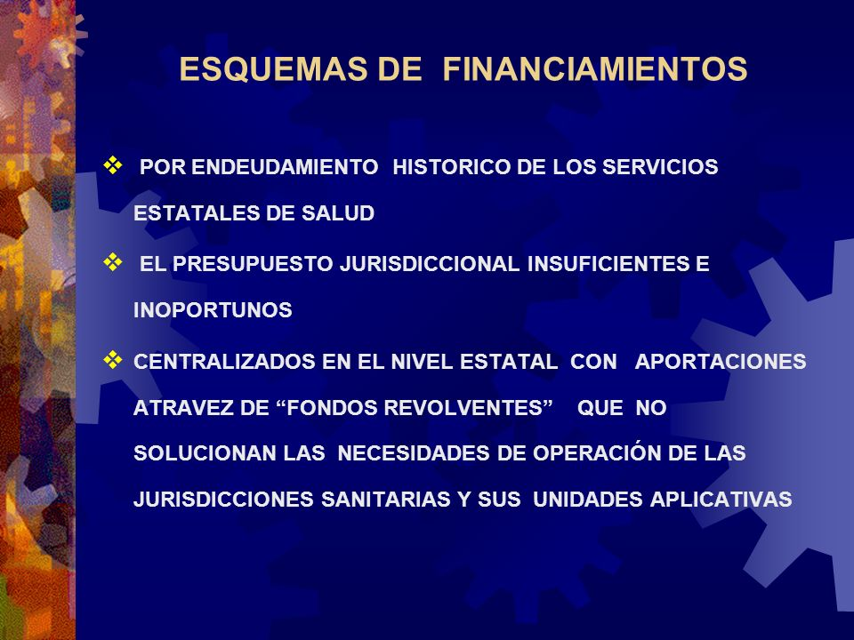 ESQUEMAS DE FINANCIAMIENTOS