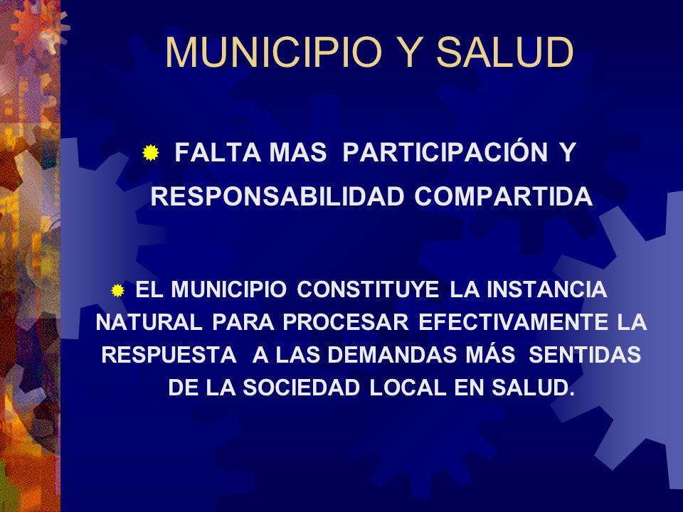 FALTA MAS PARTICIPACIÓN Y RESPONSABILIDAD COMPARTIDA