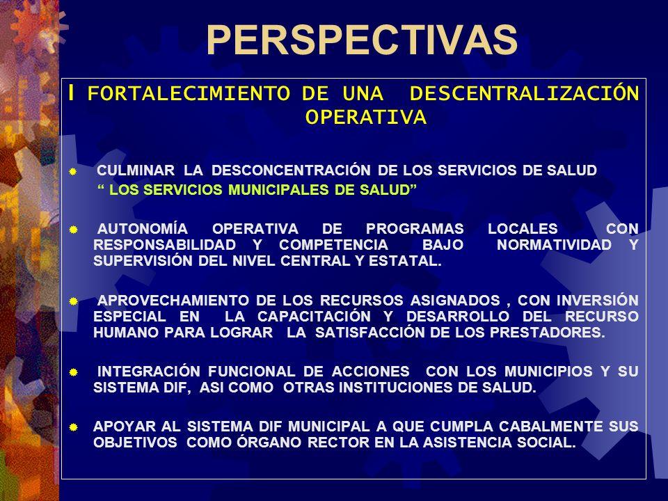 I FORTALECIMIENTO DE UNA DESCENTRALIZACIÓN OPERATIVA