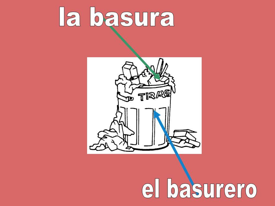 la basura el basurero