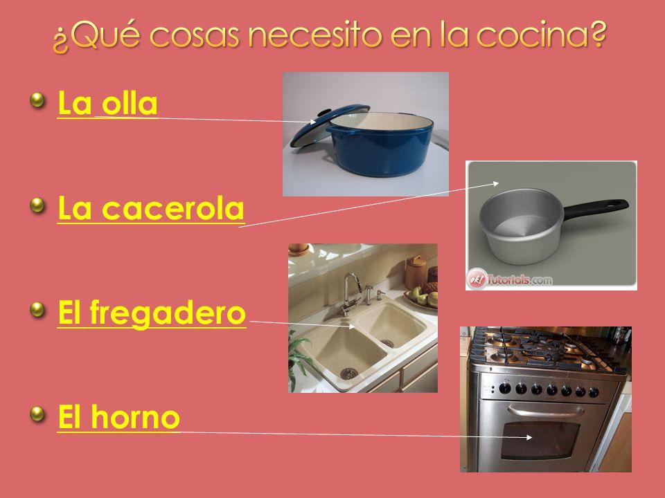 ¿Qué cosas necesito en la cocina