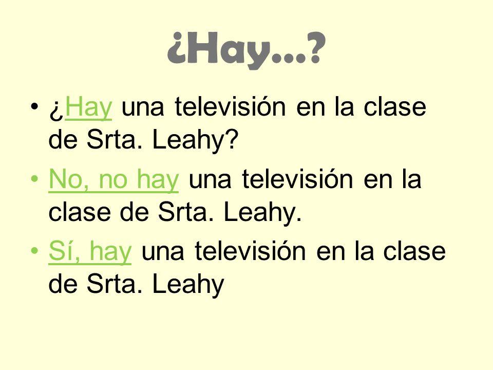 ¿Hay… ¿Hay una televisión en la clase de Srta. Leahy