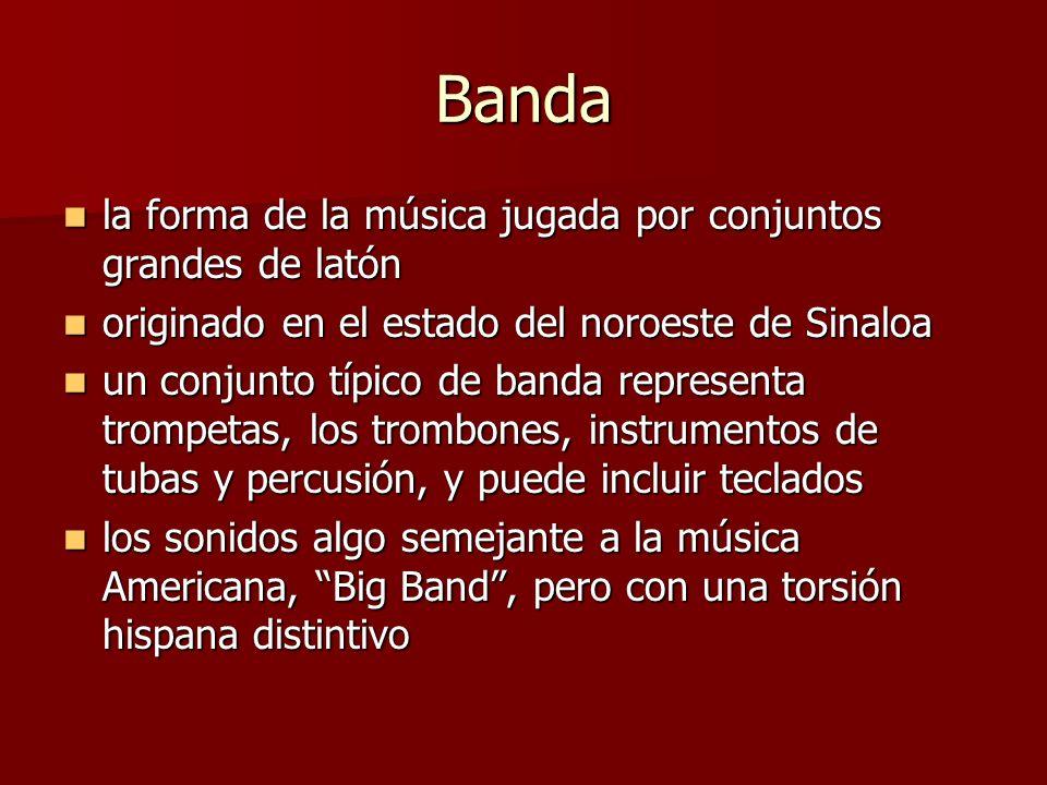 Banda la forma de la música jugada por conjuntos grandes de latón