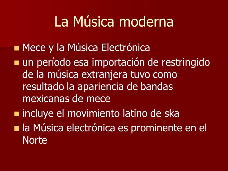 La Música moderna Mece y la Música Electrónica