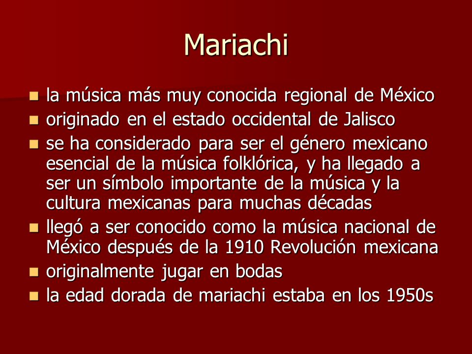 Mariachi la música más muy conocida regional de México