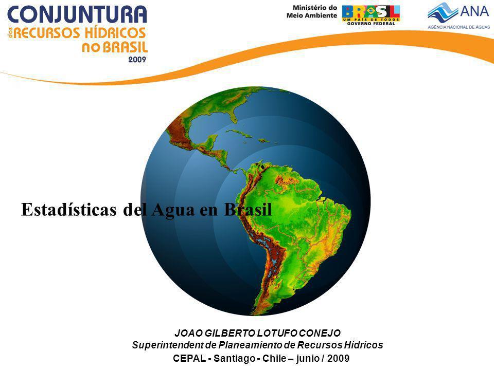 Estadísticas del Agua en Brasil