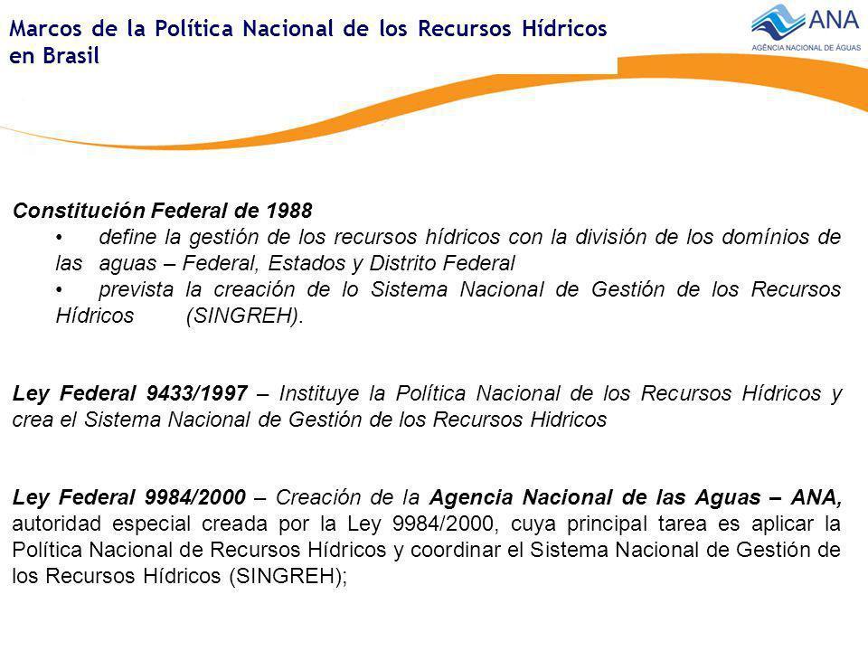 Marcos de la Política Nacional de los Recursos Hídricos en Brasil