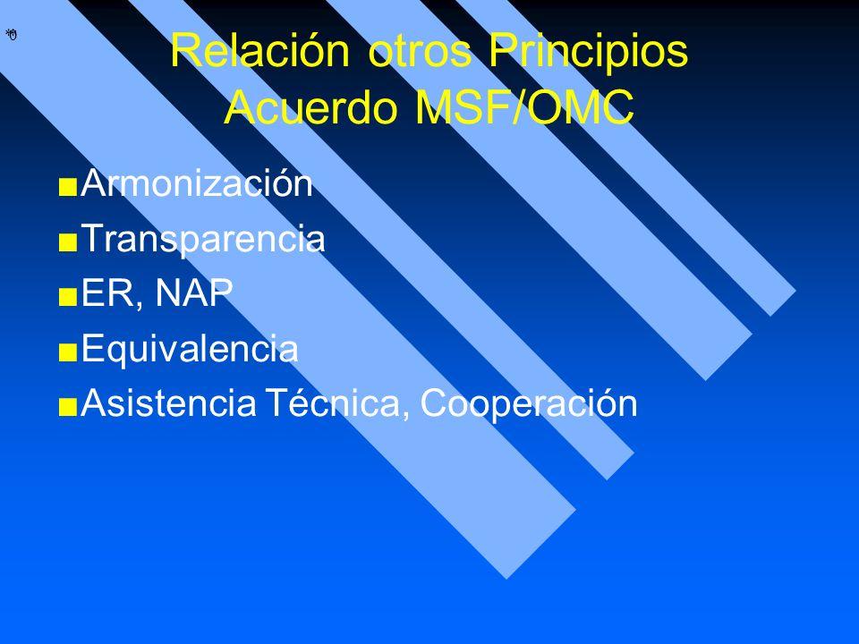 Relación otros Principios Acuerdo MSF/OMC