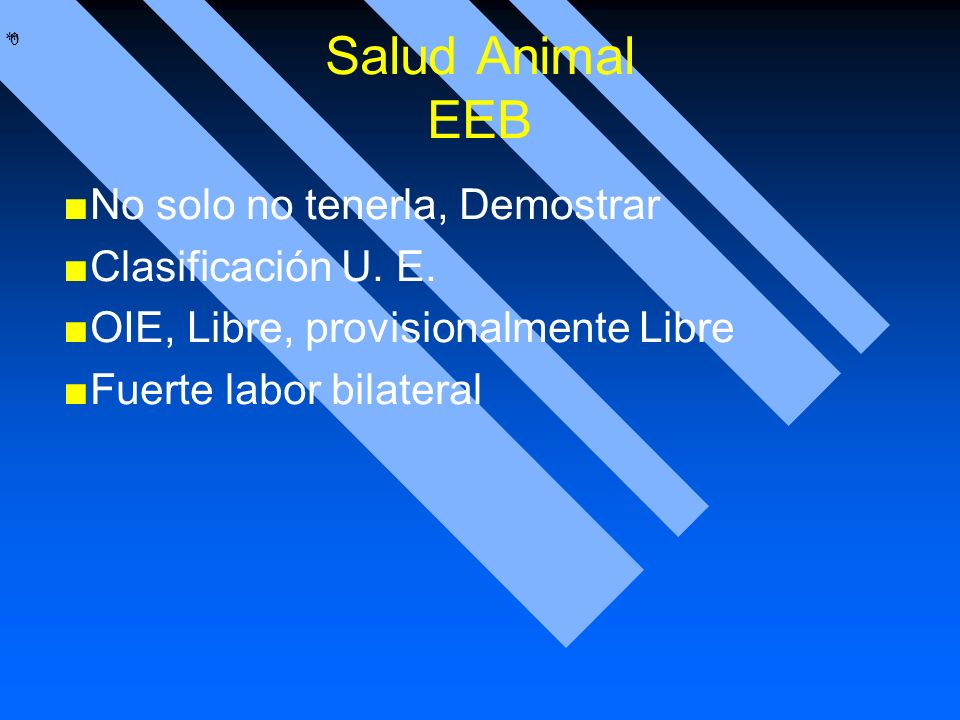 Salud Animal EEB No solo no tenerla, Demostrar Clasificación U. E.