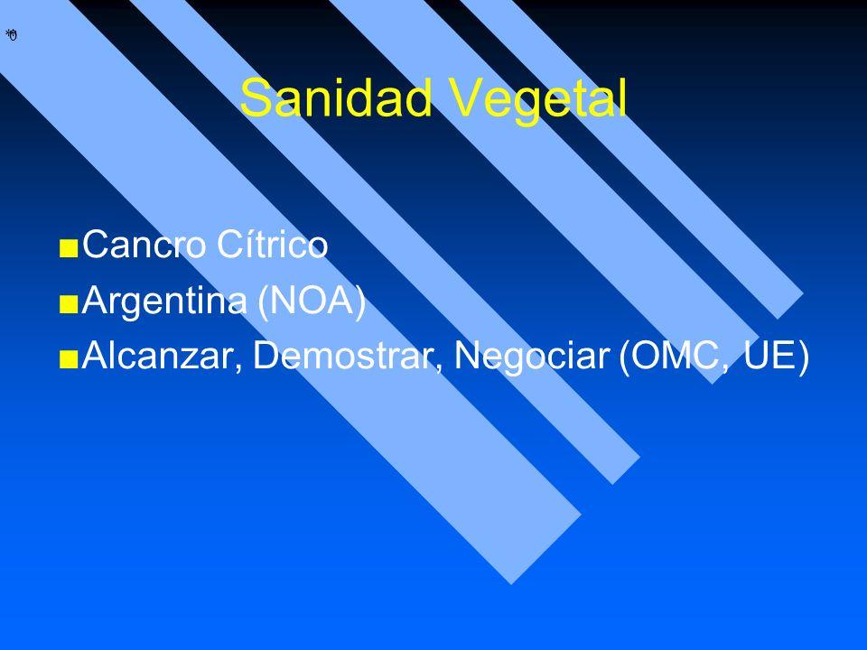 Sanidad Vegetal Cancro Cítrico Argentina (NOA)