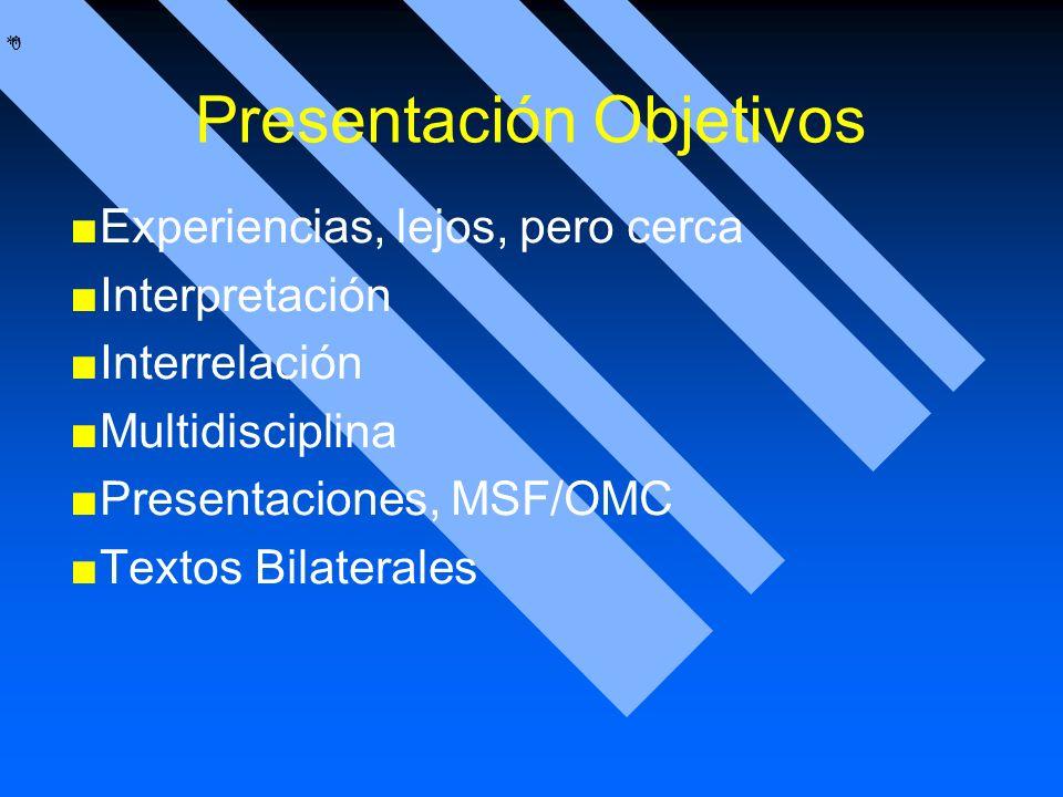 Presentación Objetivos