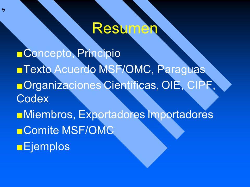 Resumen Concepto, Principio Texto Acuerdo MSF/OMC, Paraguas