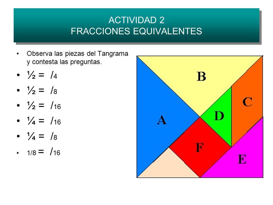 ACTIVIDAD 2 FRACCIONES EQUIVALENTES