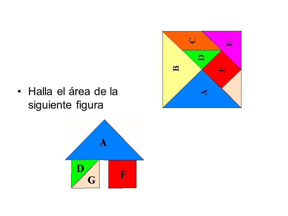 Halla el área de la siguiente figura