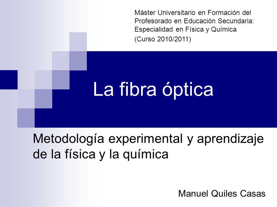 Metodología Experimental Y Aprendizaje De La Física Y La