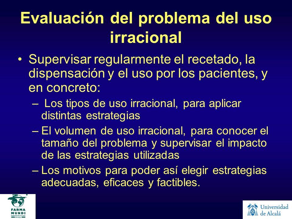Evaluación del problema del uso irracional