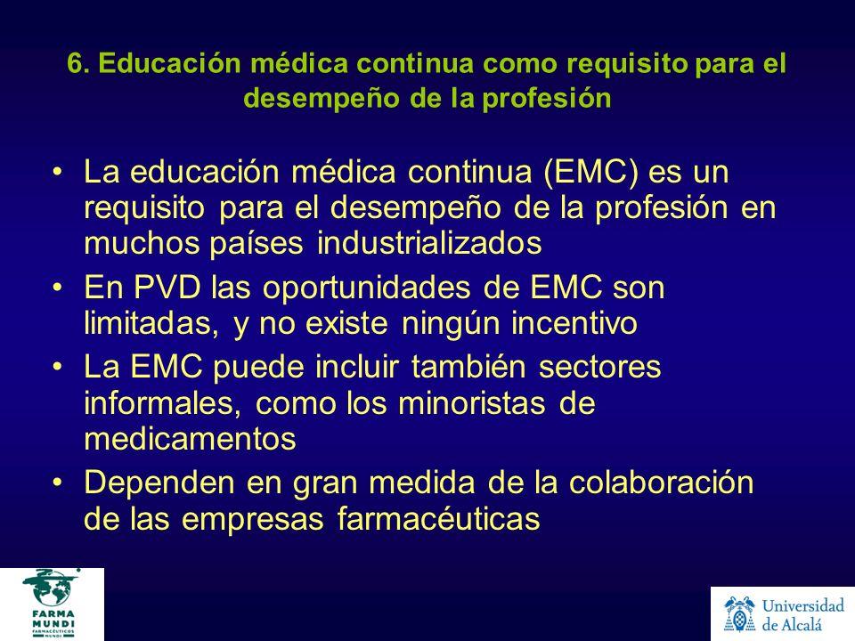 6. Educación médica continua como requisito para el desempeño de la profesión