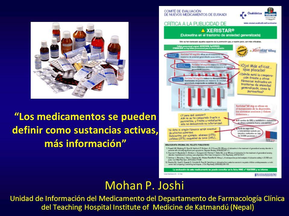 Los medicamentos se pueden definir como sustancias activas, más información