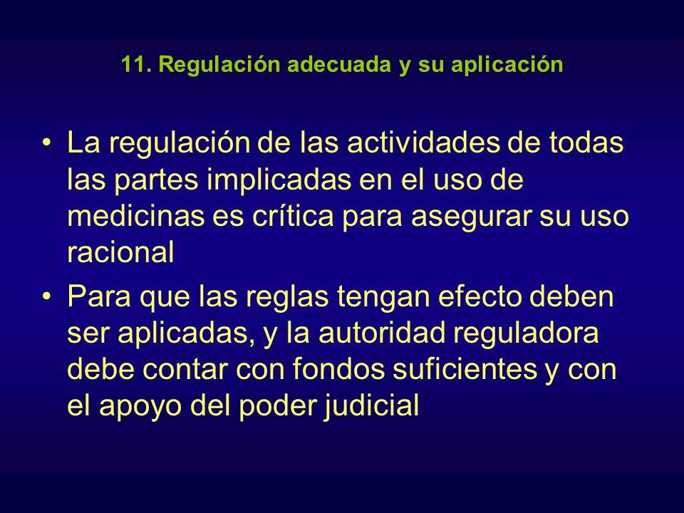 11. Regulación adecuada y su aplicación