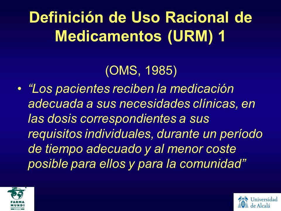 Definición de Uso Racional de Medicamentos (URM) 1