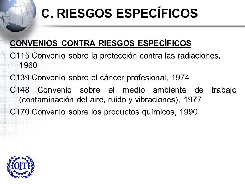 C. RIESGOS ESPECÍFICOS CONVENIOS CONTRA RIESGOS ESPECÍFICOS