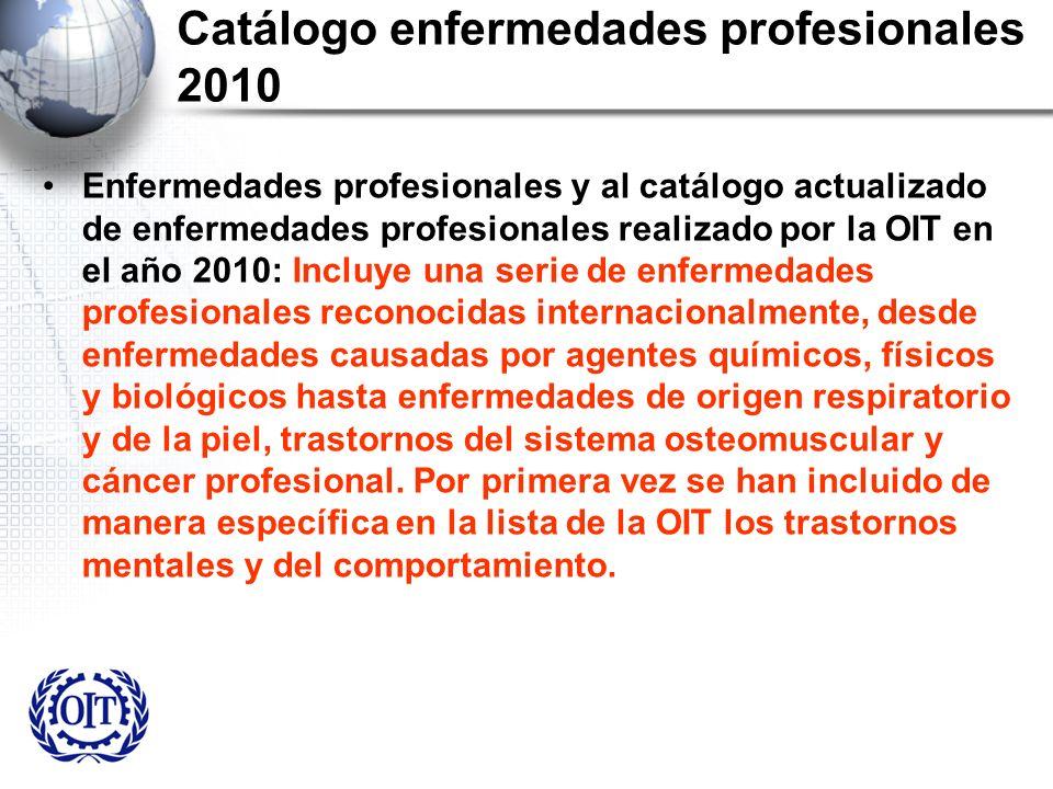 Catálogo enfermedades profesionales 2010