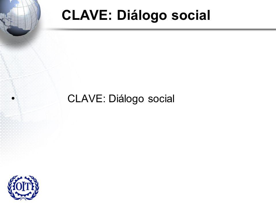 CLAVE: Diálogo social CLAVE: Diálogo social