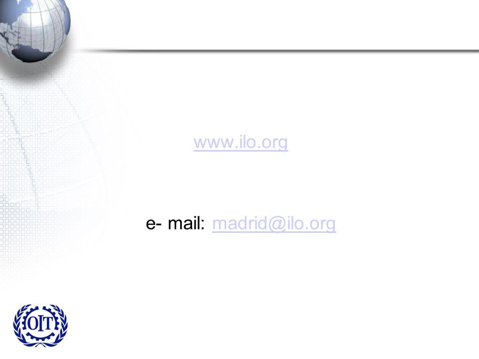 www.ilo.org e- mail: madrid@ilo.org