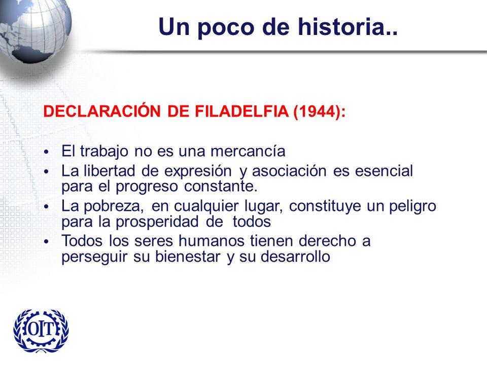 Un poco de historia.. DECLARACIÓN DE FILADELFIA (1944):
