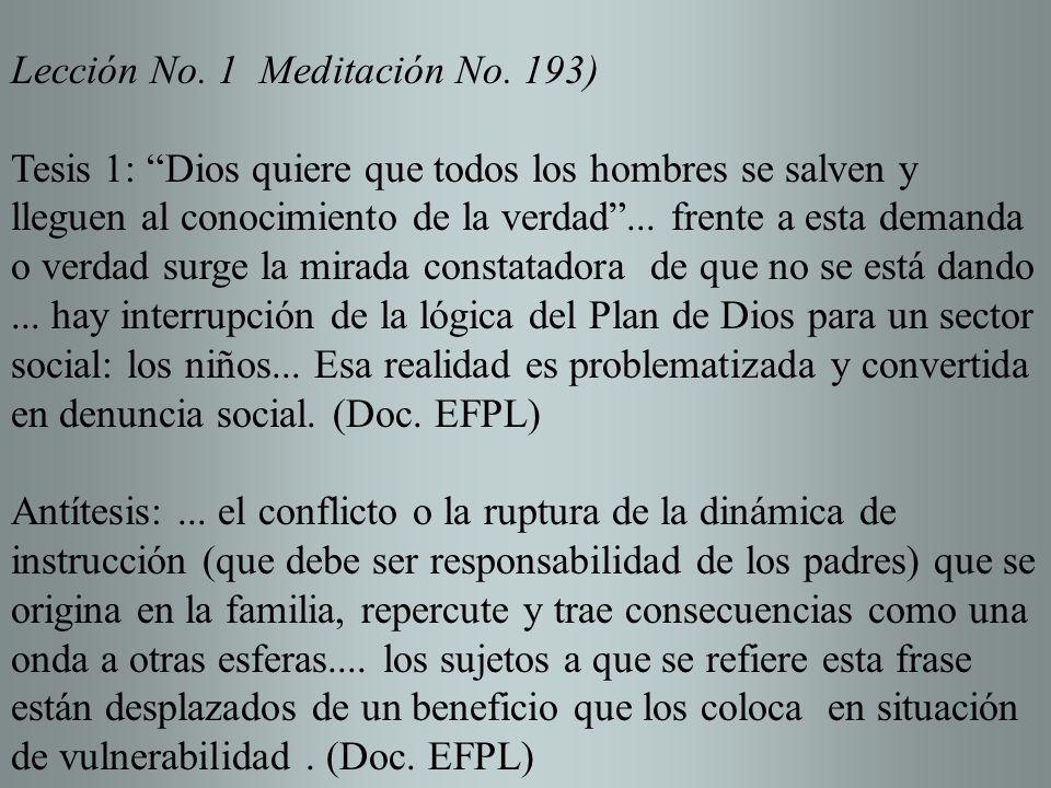 Lección No. 1 Meditación No. 193)