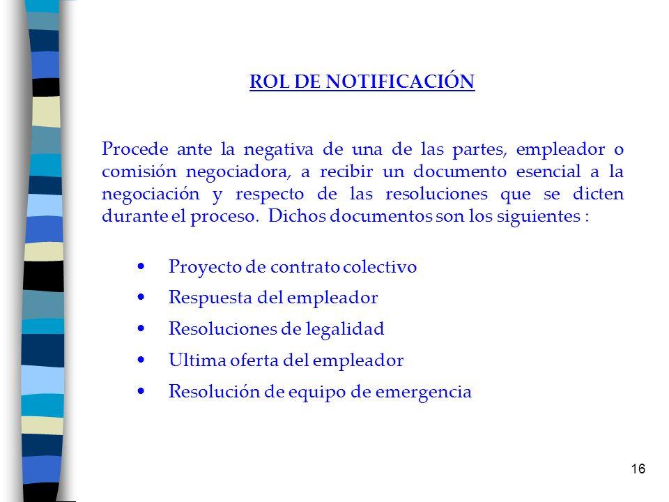 ROL DE NOTIFICACIÓN