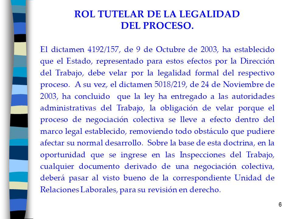 ROL TUTELAR DE LA LEGALIDAD