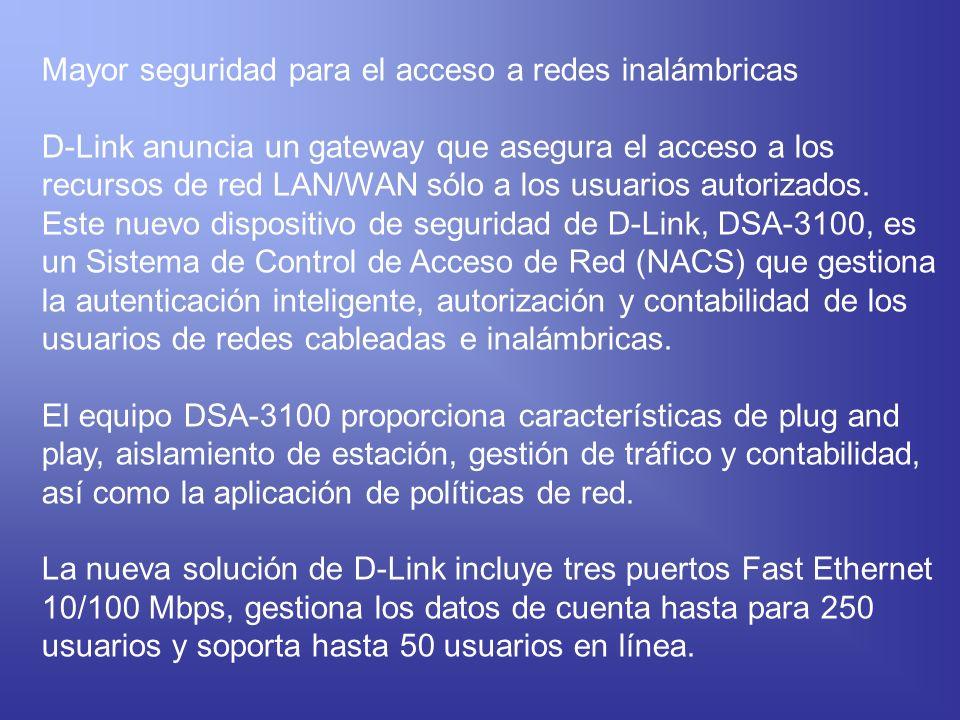 Mayor seguridad para el acceso a redes inalámbricas
