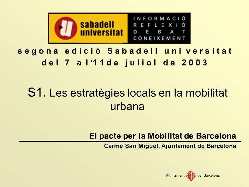S1. Les estratègies locals en la mobilitat urbana