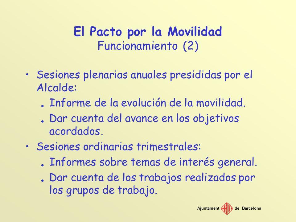 El Pacto por la Movilidad Funcionamiento (2)