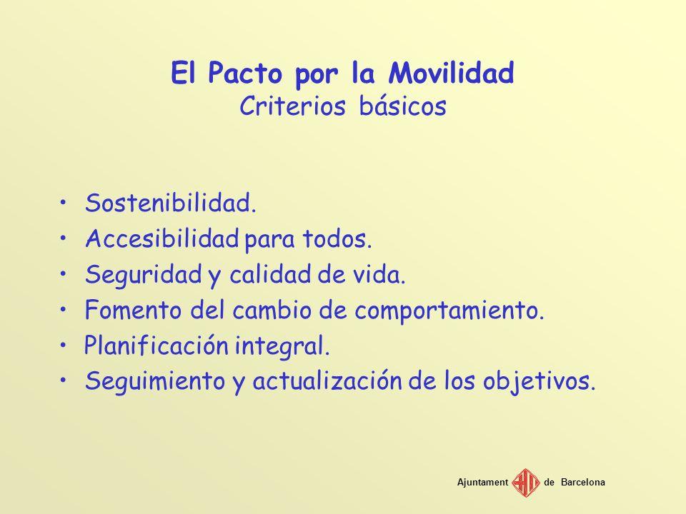 El Pacto por la Movilidad Criterios básicos