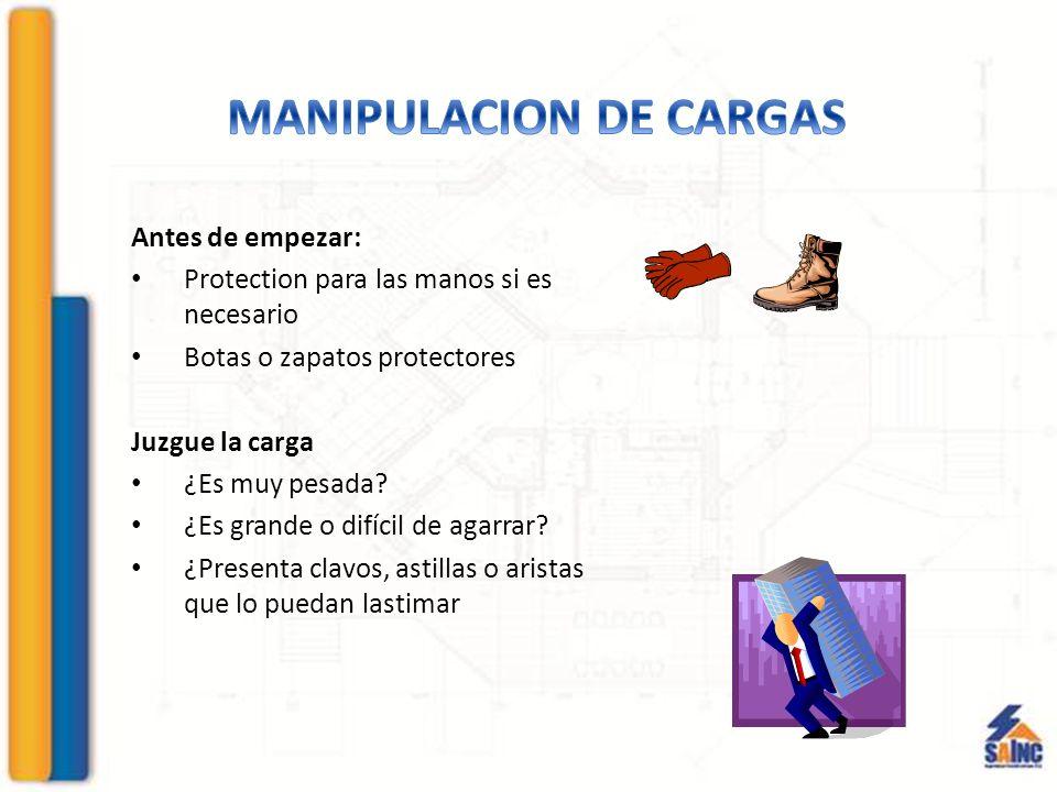MANIPULACION DE CARGAS