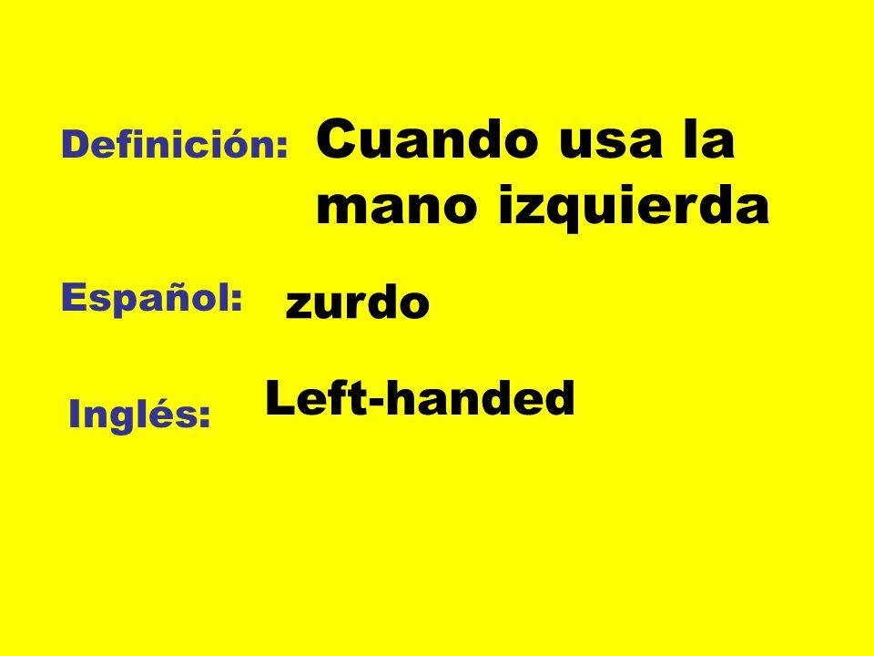 Cuando usa la mano izquierda