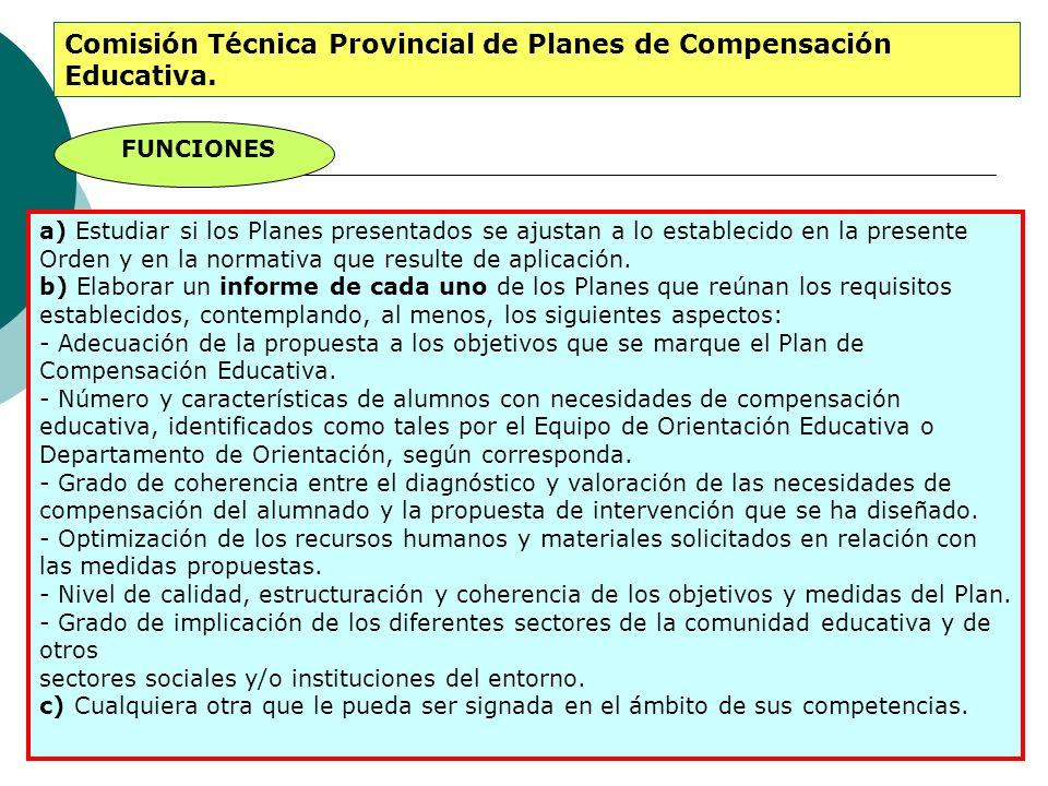 Comisión Técnica Provincial de Planes de Compensación Educativa.