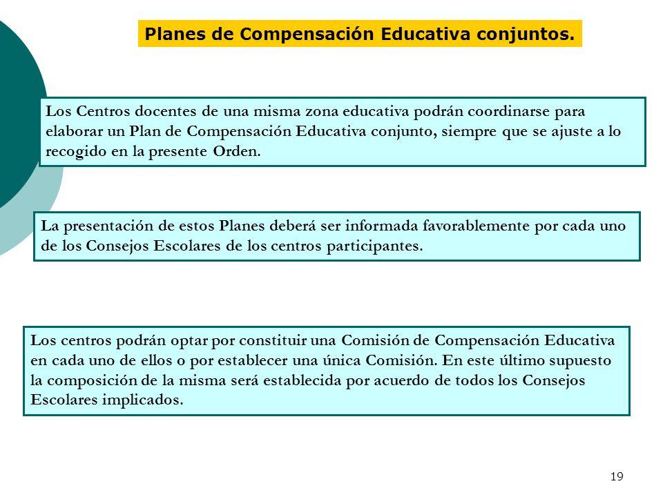 Planes de Compensación Educativa conjuntos.