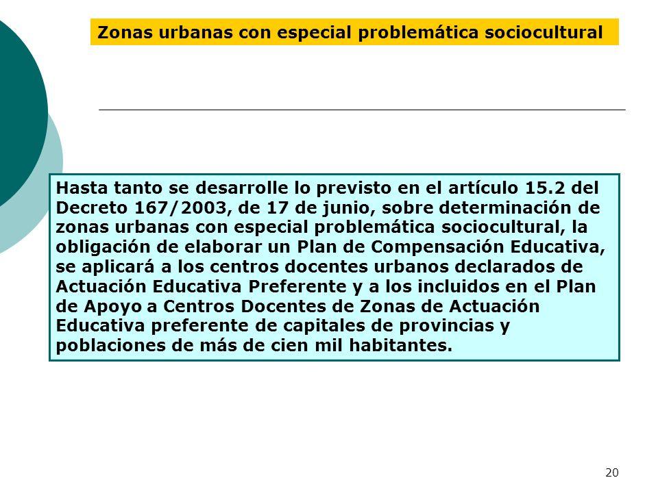 Zonas urbanas con especial problemática sociocultural